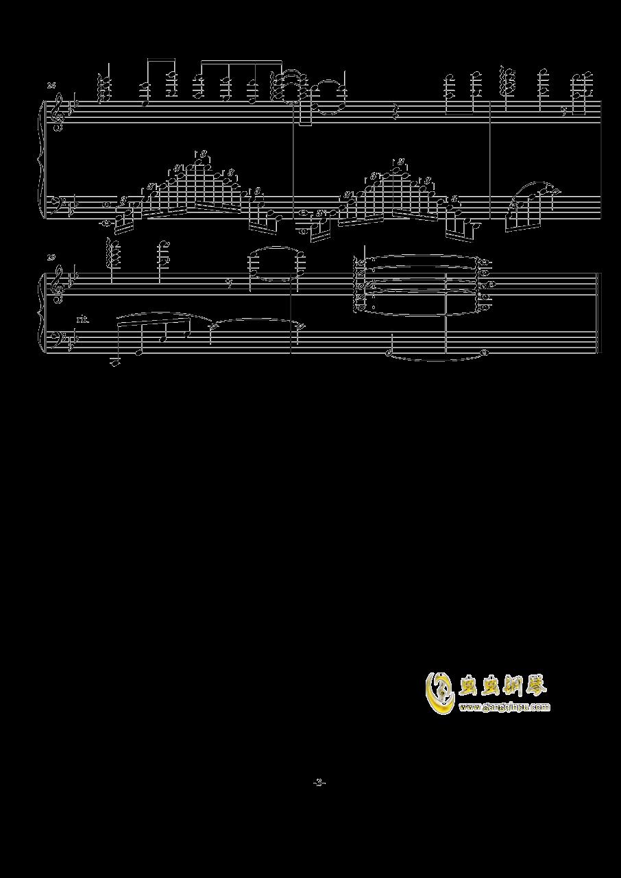 《虹猫蓝兔七侠传》ed心中想的还是他钢琴谱 第3页