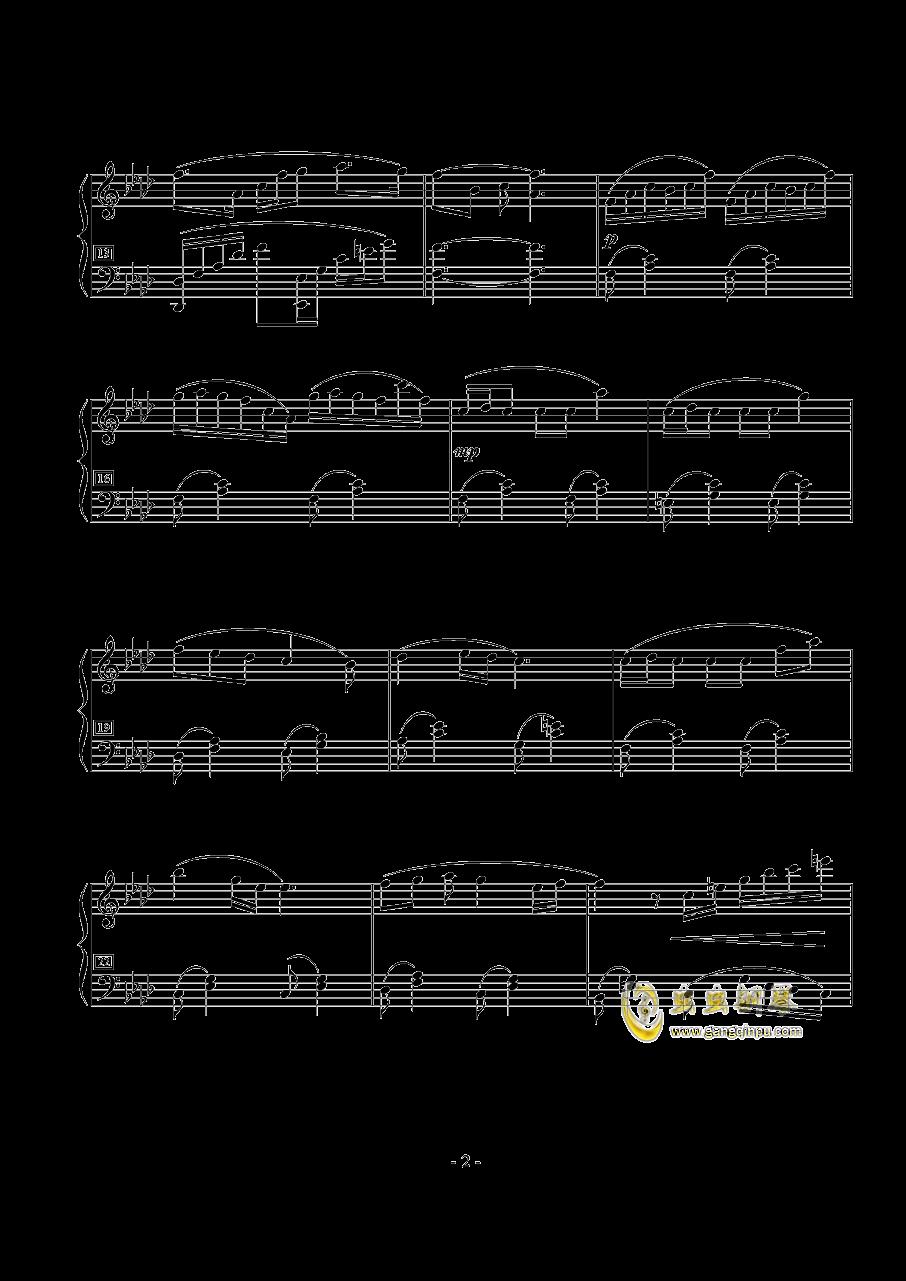花守之丘钢琴谱 第2页