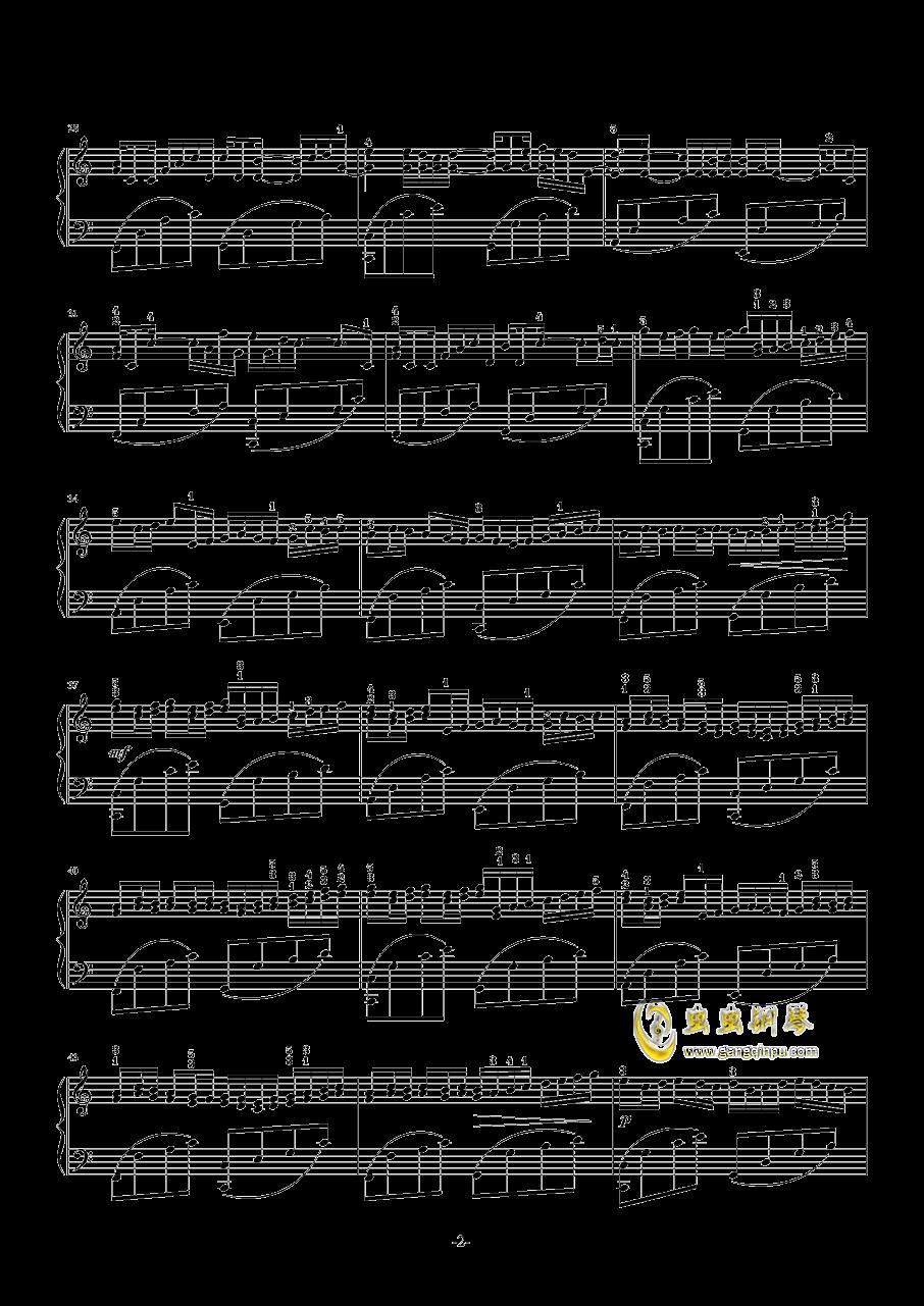 卡农钢琴谱 第2页