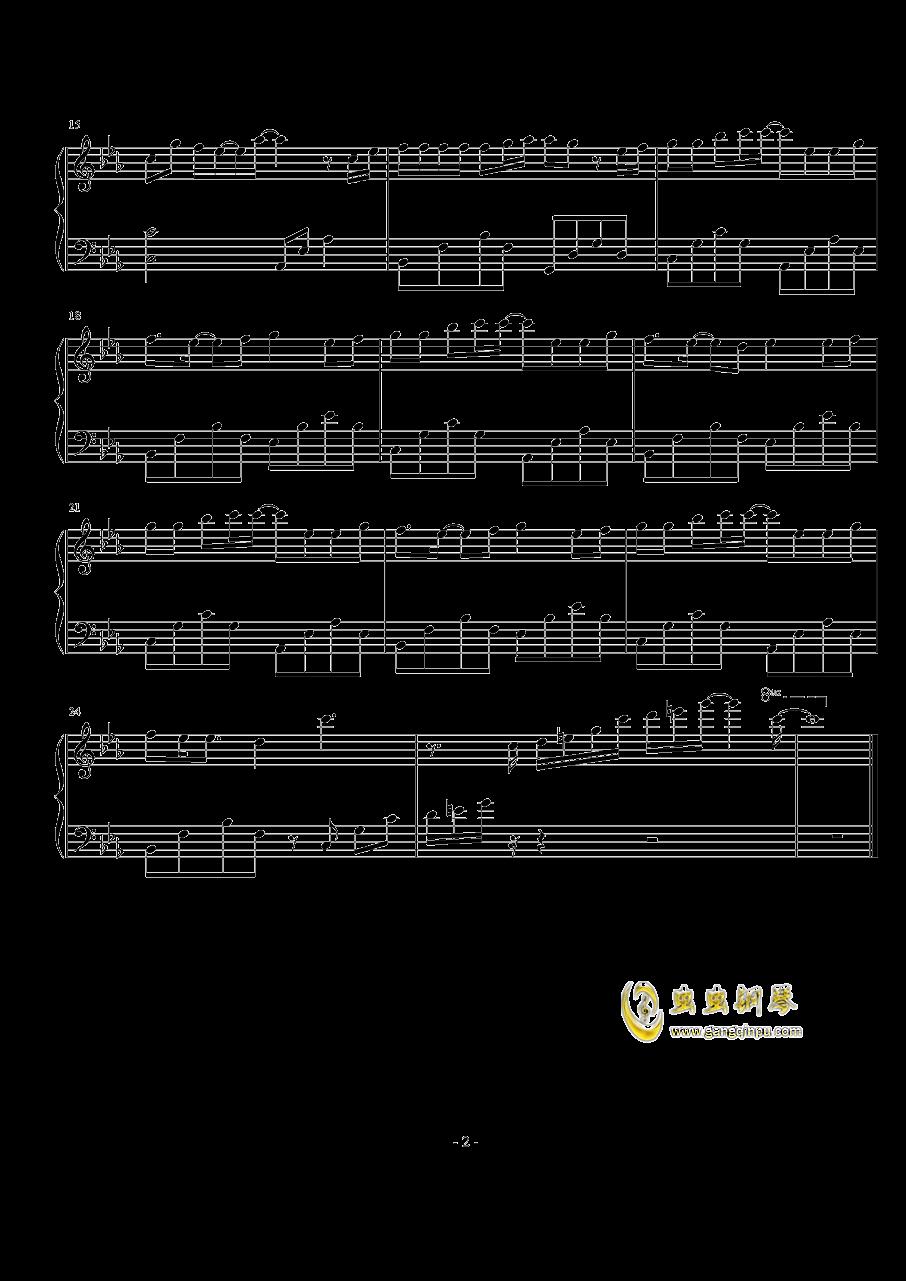 爱河钢琴谱 第2页