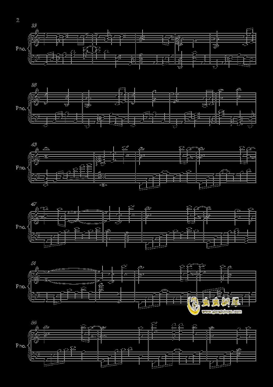 wanderers钢琴谱 第2页
