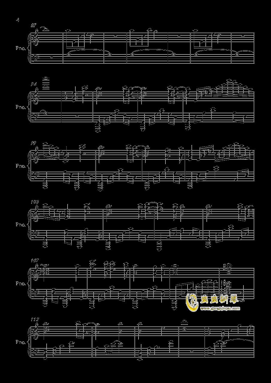 wanderers钢琴谱 第4页