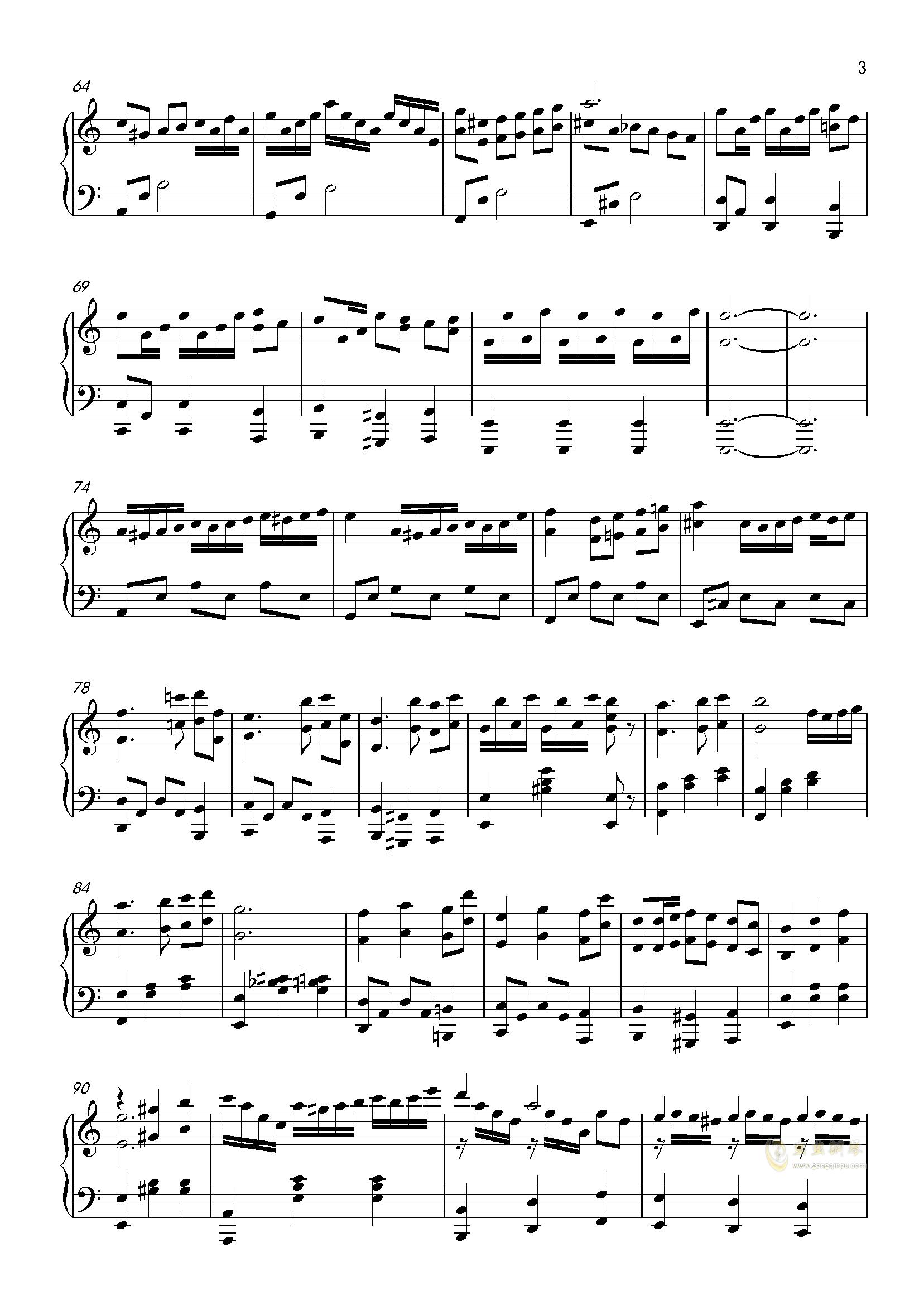 Tears in Minuet钢琴谱 第3页