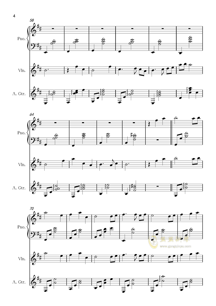 记忆钢琴谱 第4页