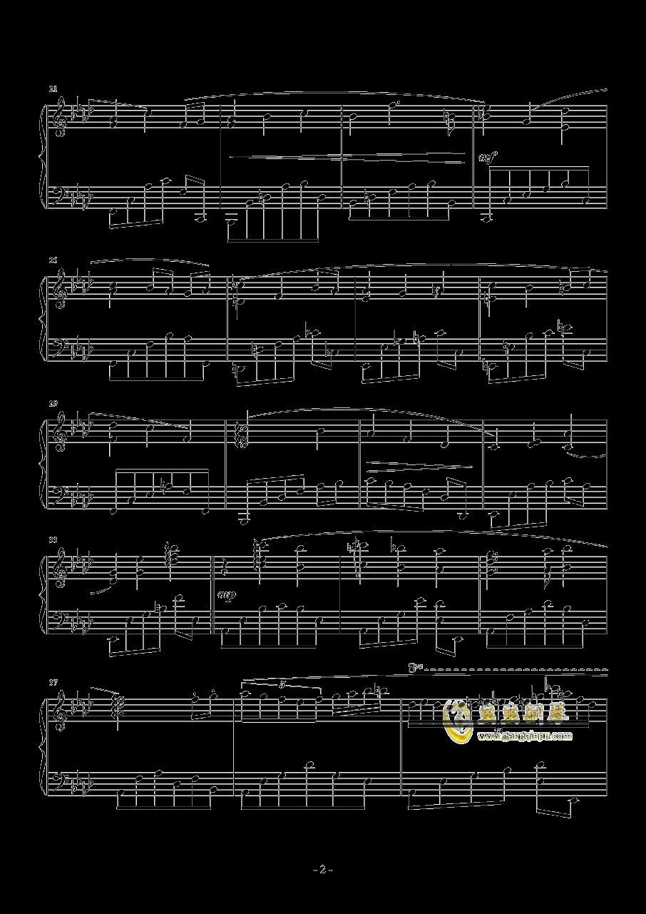 随性钢琴谱 第2页