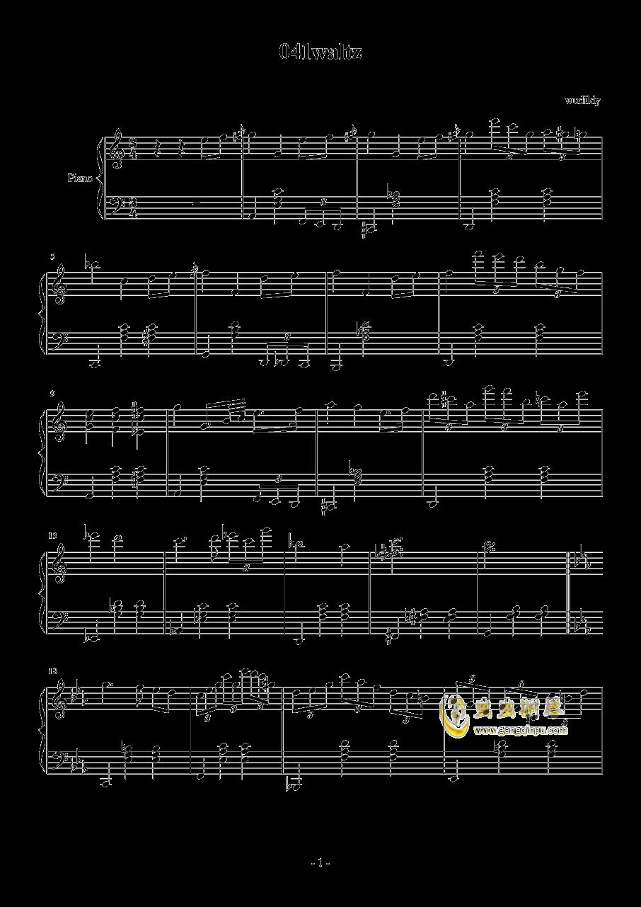 041waltz钢琴谱 第1页