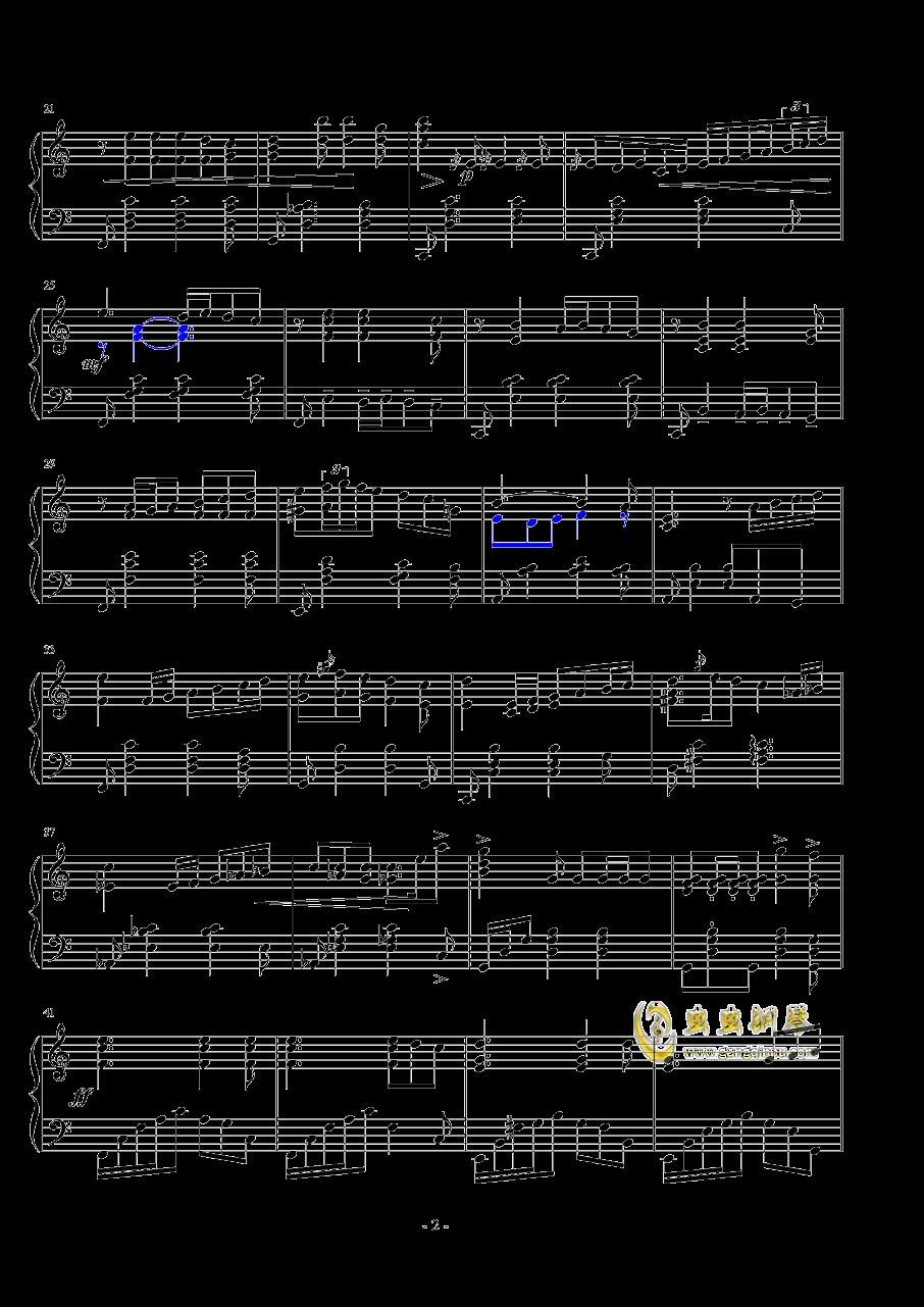 悲�钢琴谱 第2页