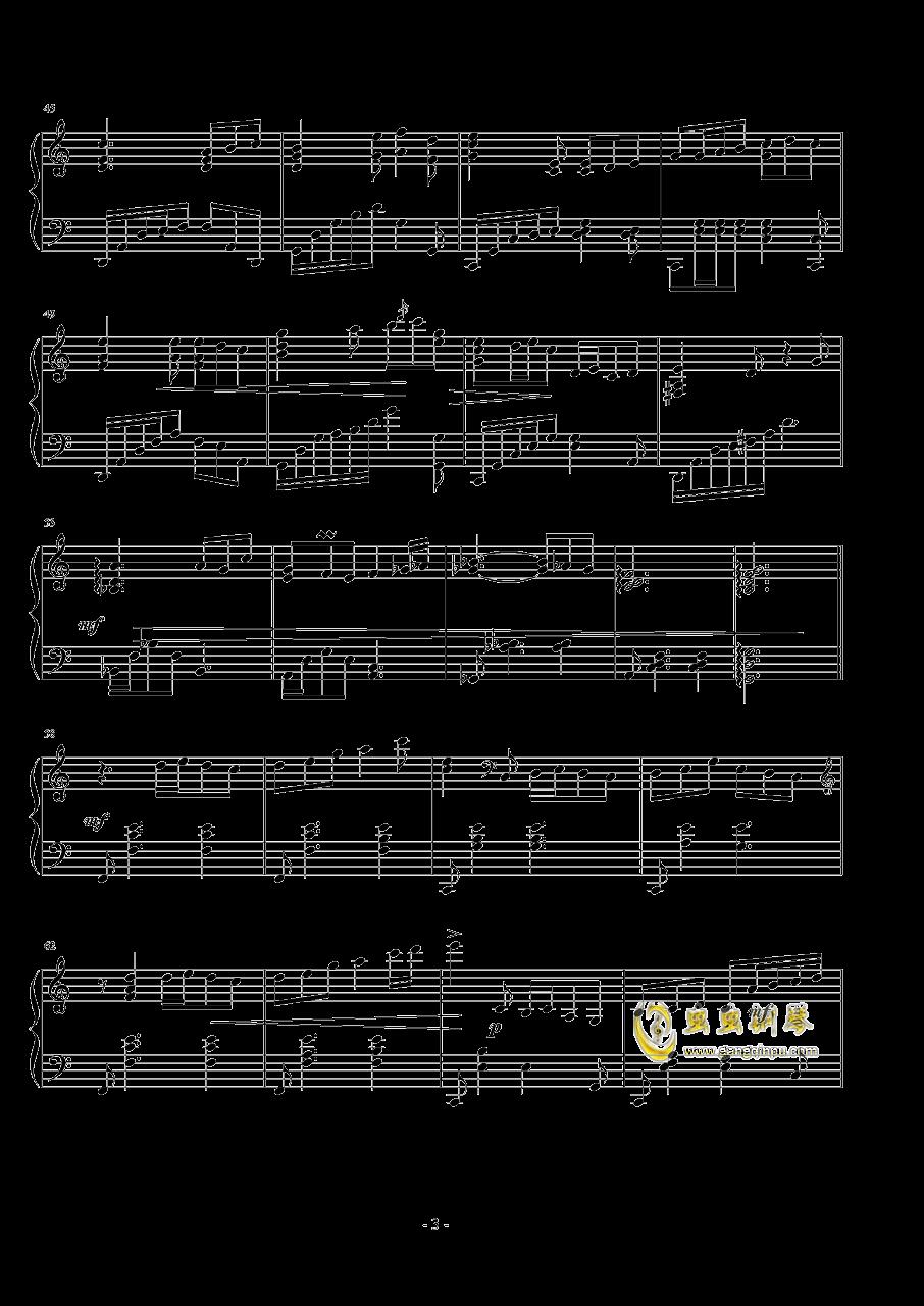 悲�钢琴谱 第3页