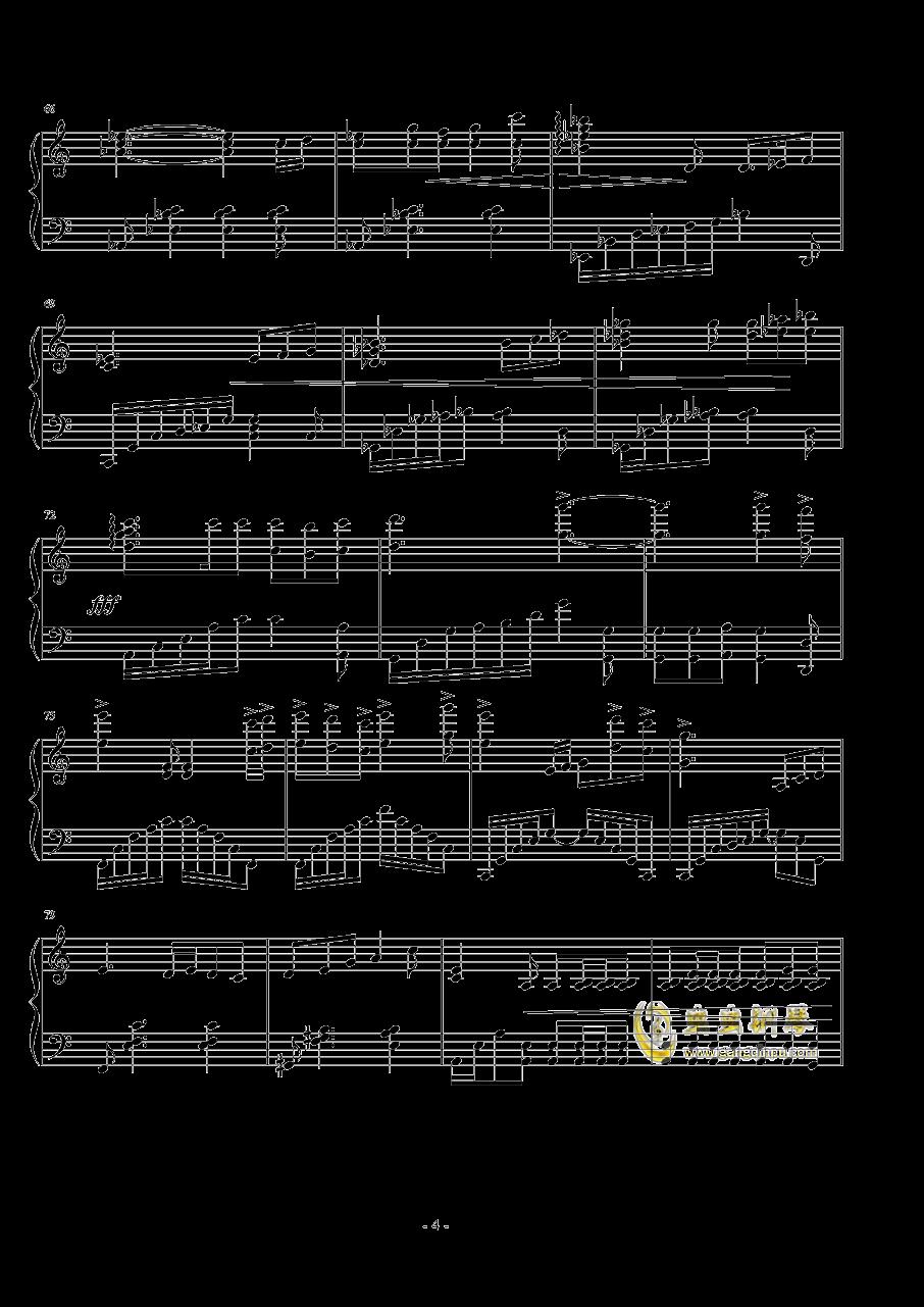 悲�钢琴谱 第4页