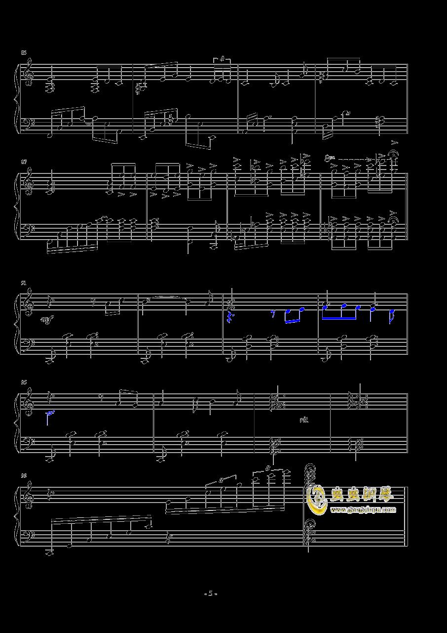 悲�钢琴谱 第5页