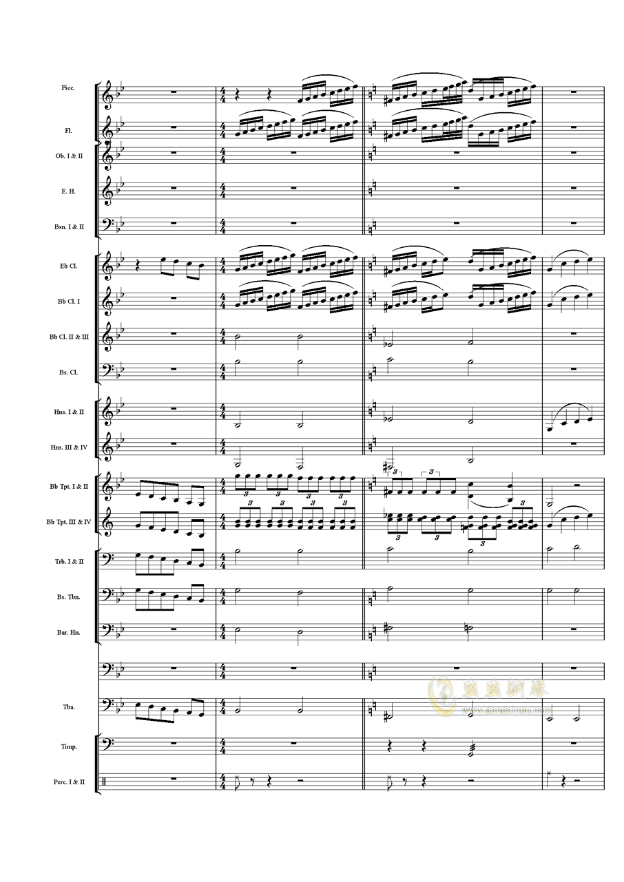 力量钢琴谱 第21页