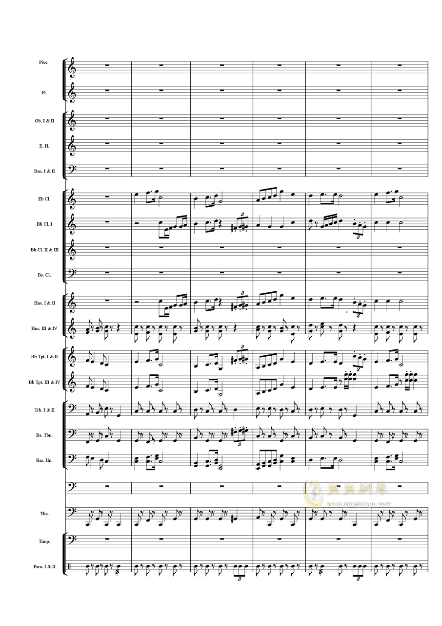 力量钢琴谱 第3页