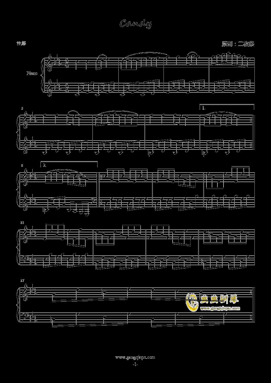 Candy钢琴谱 第1页