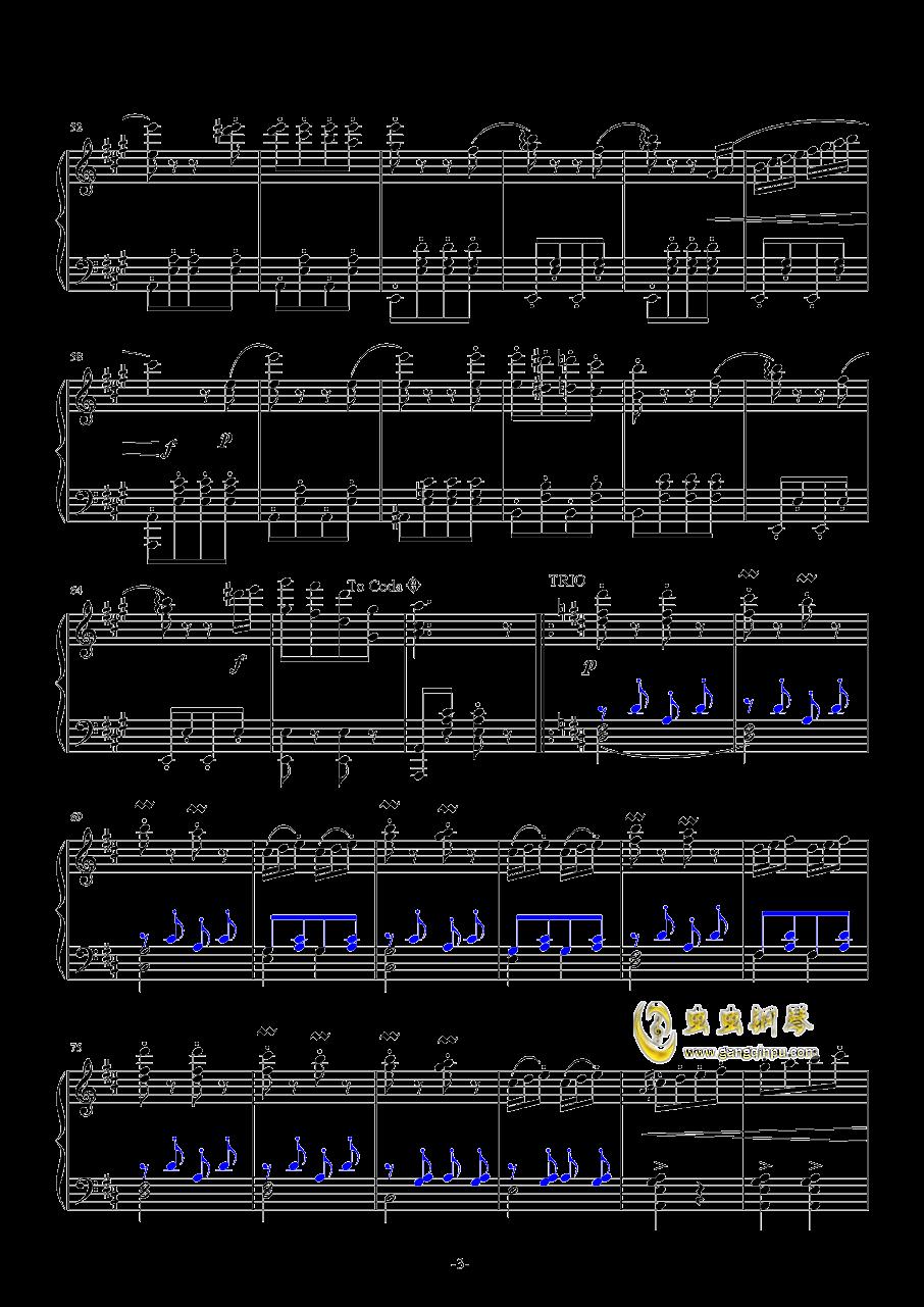 闲聊波尔卡钢琴谱 第3页