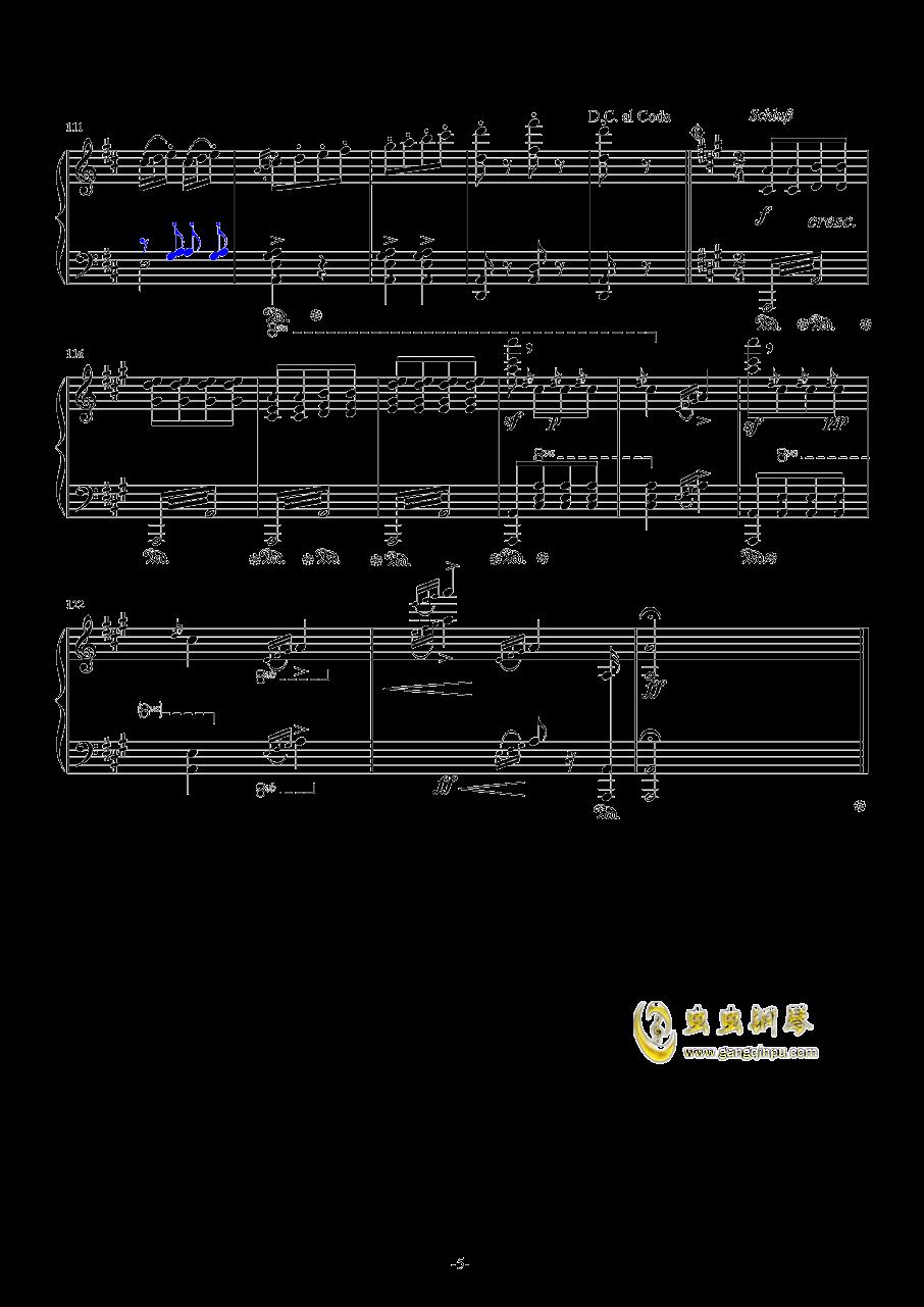 闲聊波尔卡钢琴谱 第5页