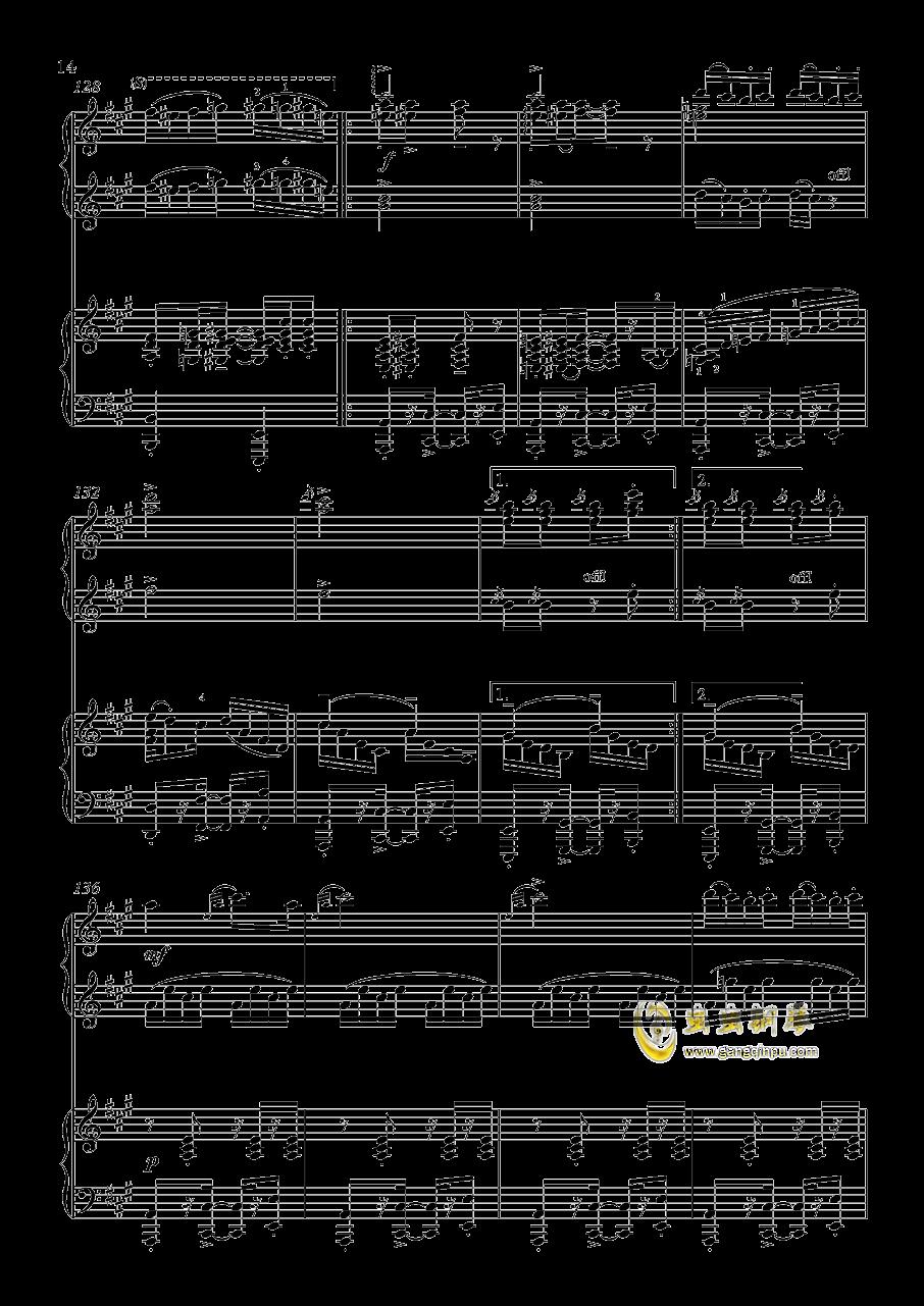 土耳其进行曲钢琴谱 第14页