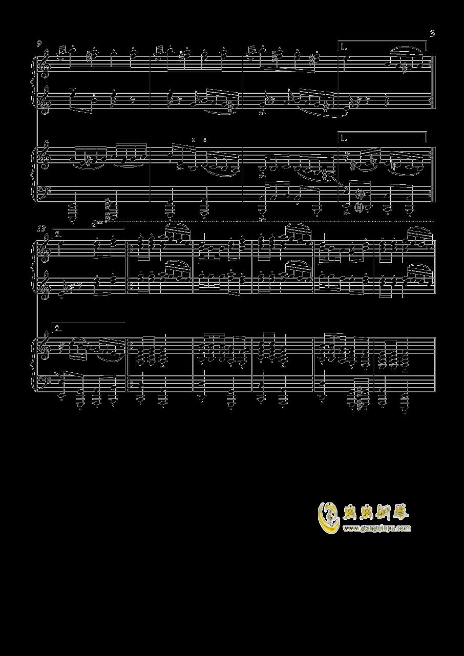 土耳其进行曲钢琴谱 第3页