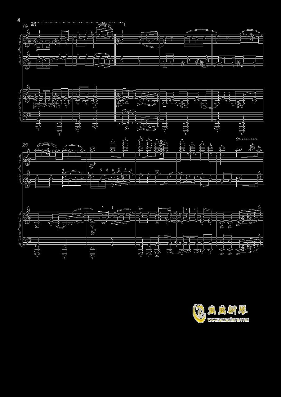土耳其进行曲钢琴谱 第4页