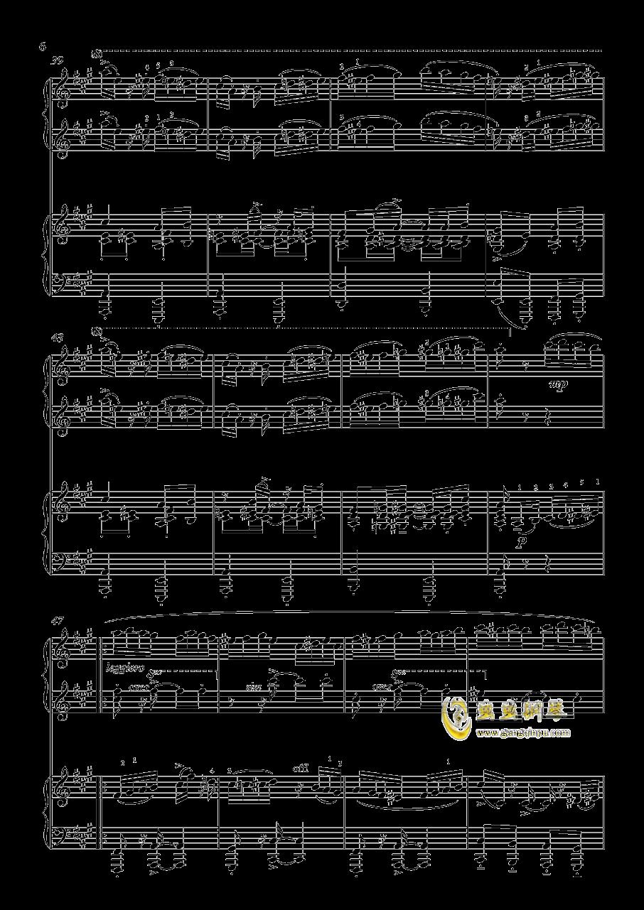 土耳其进行曲钢琴谱 第6页