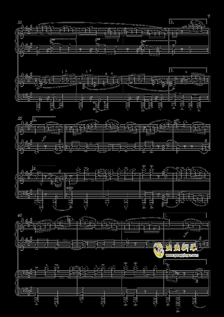 土耳其进行曲钢琴谱 第7页