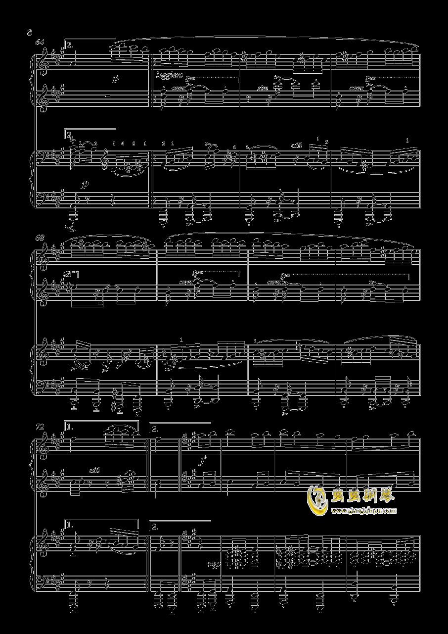 土耳其进行曲钢琴谱 第8页