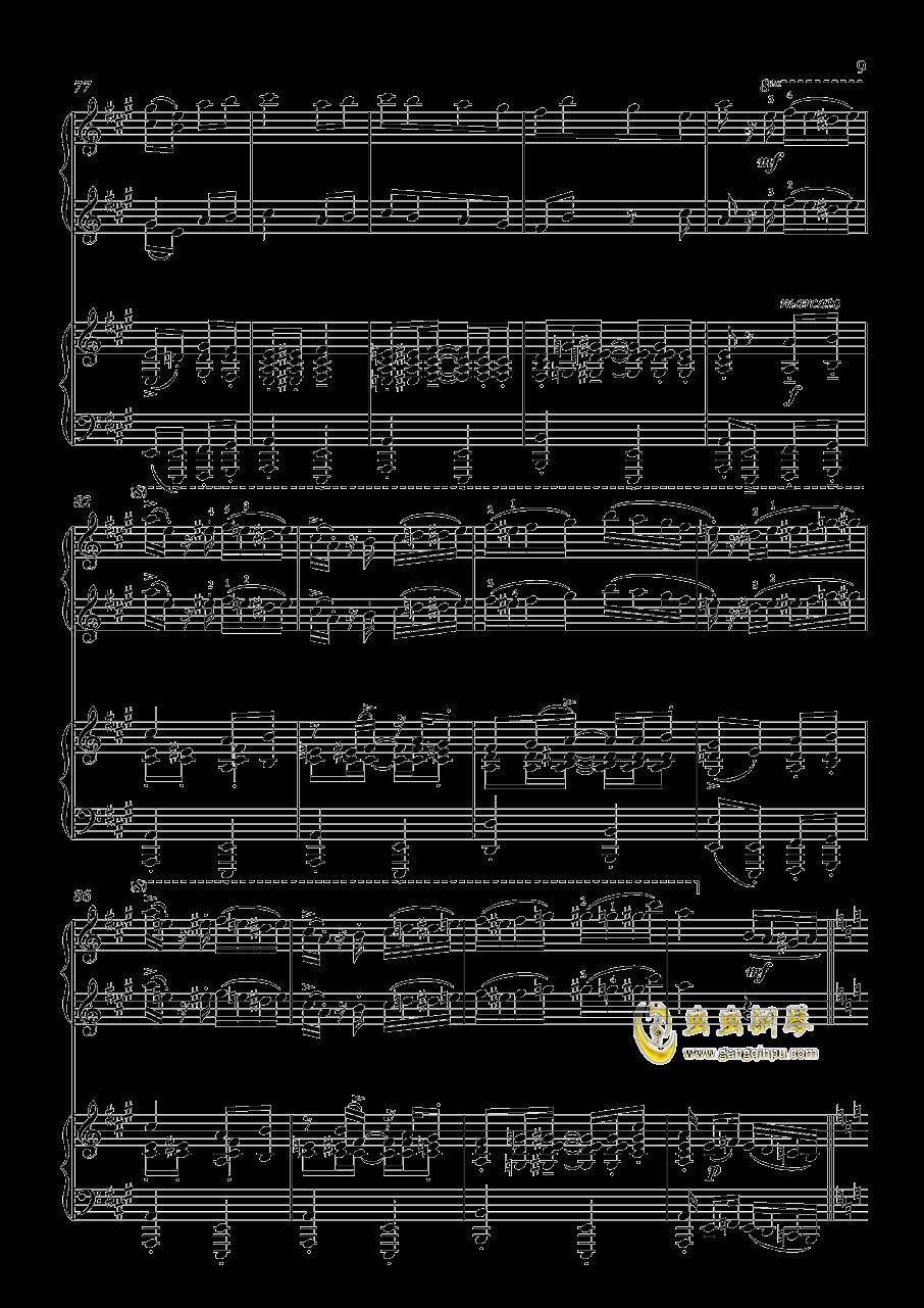 土耳其进行曲钢琴谱 第9页