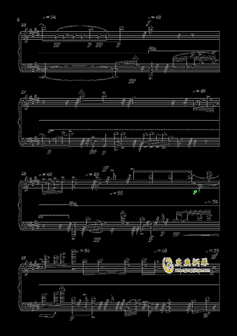 利世的悲伤钢琴谱 第6页