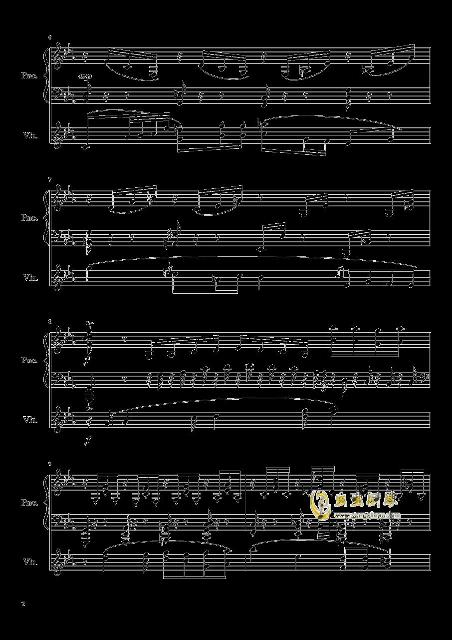 钢琴与小提琴奏鸣曲钢琴谱 第2页