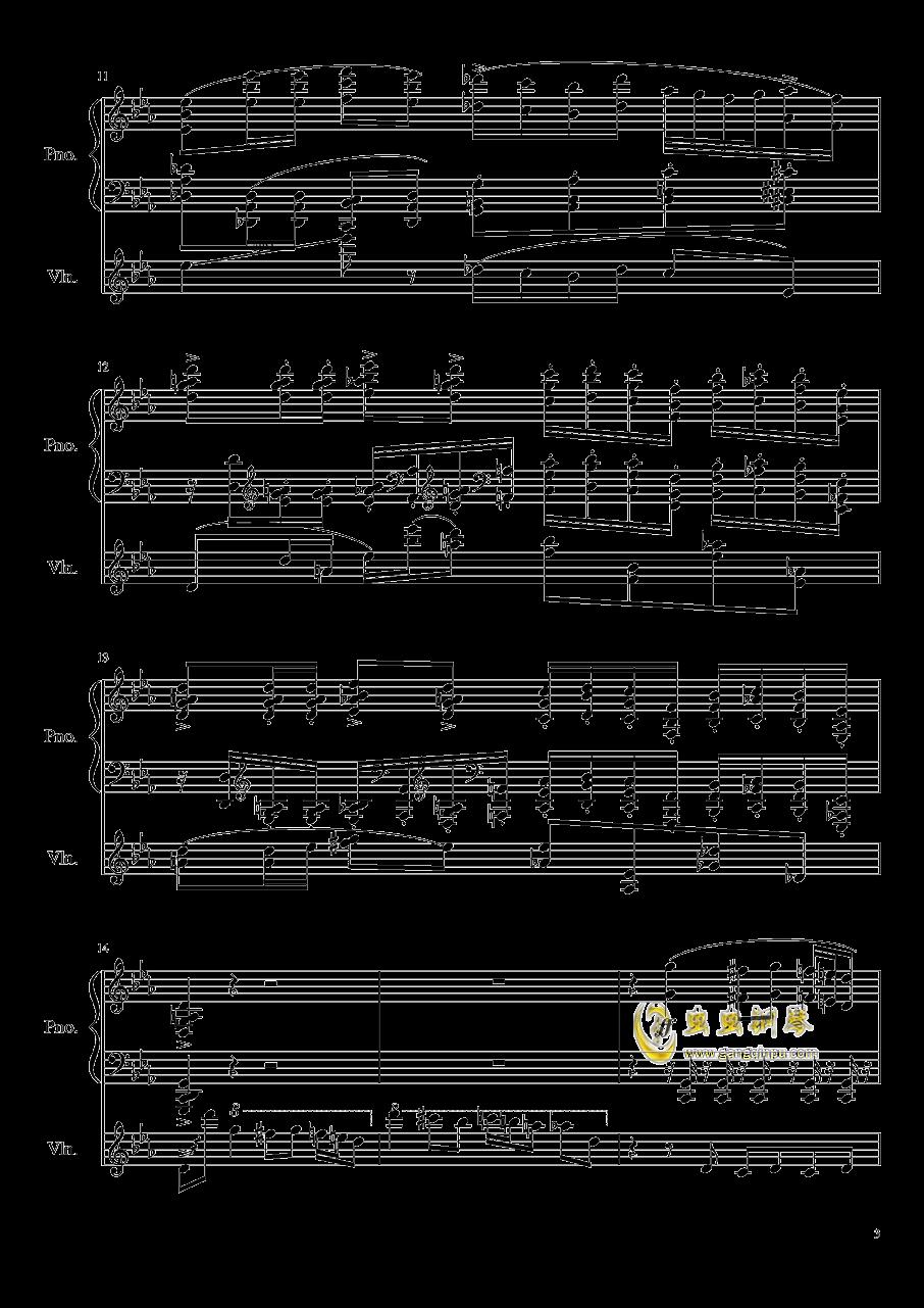 钢琴与小提琴奏鸣曲钢琴谱 第3页