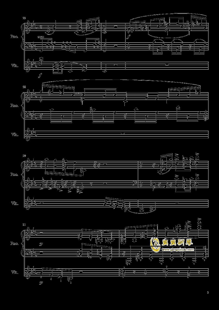 钢琴与小提琴奏鸣曲钢琴谱 第5页