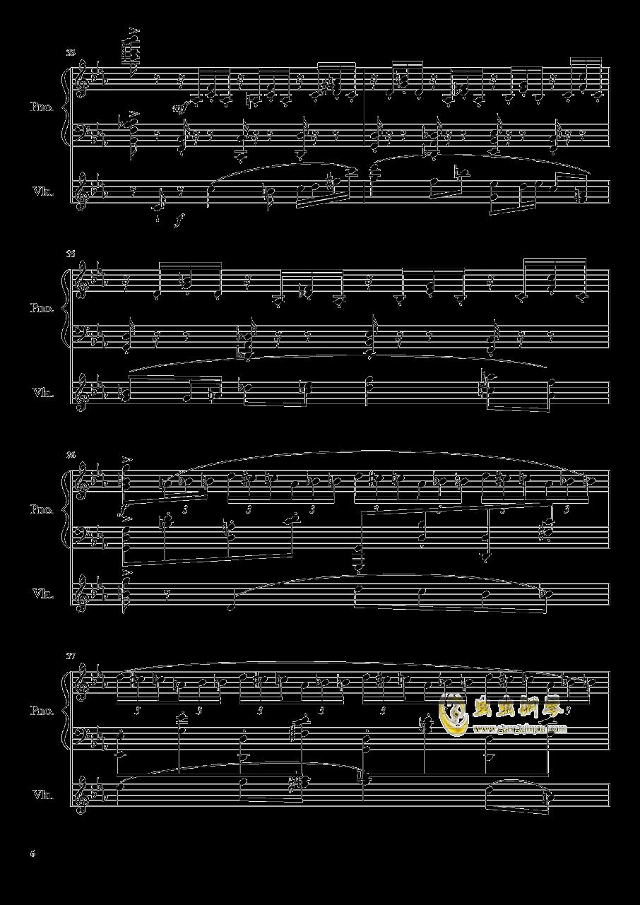 钢琴与小提琴奏鸣曲钢琴谱 第6页