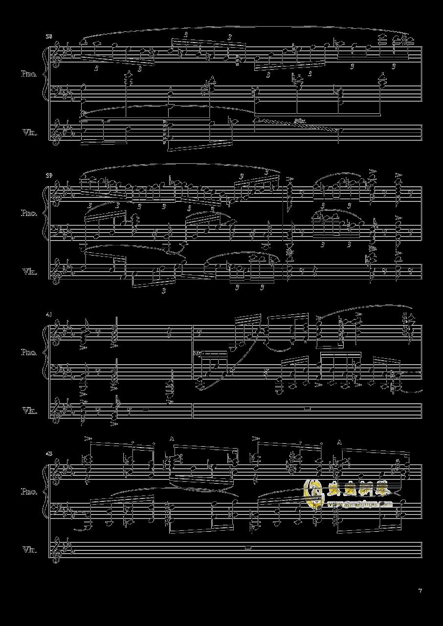 钢琴与小提琴奏鸣曲钢琴谱 第7页