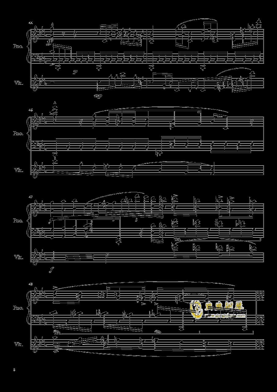 钢琴与小提琴奏鸣曲钢琴谱 第8页