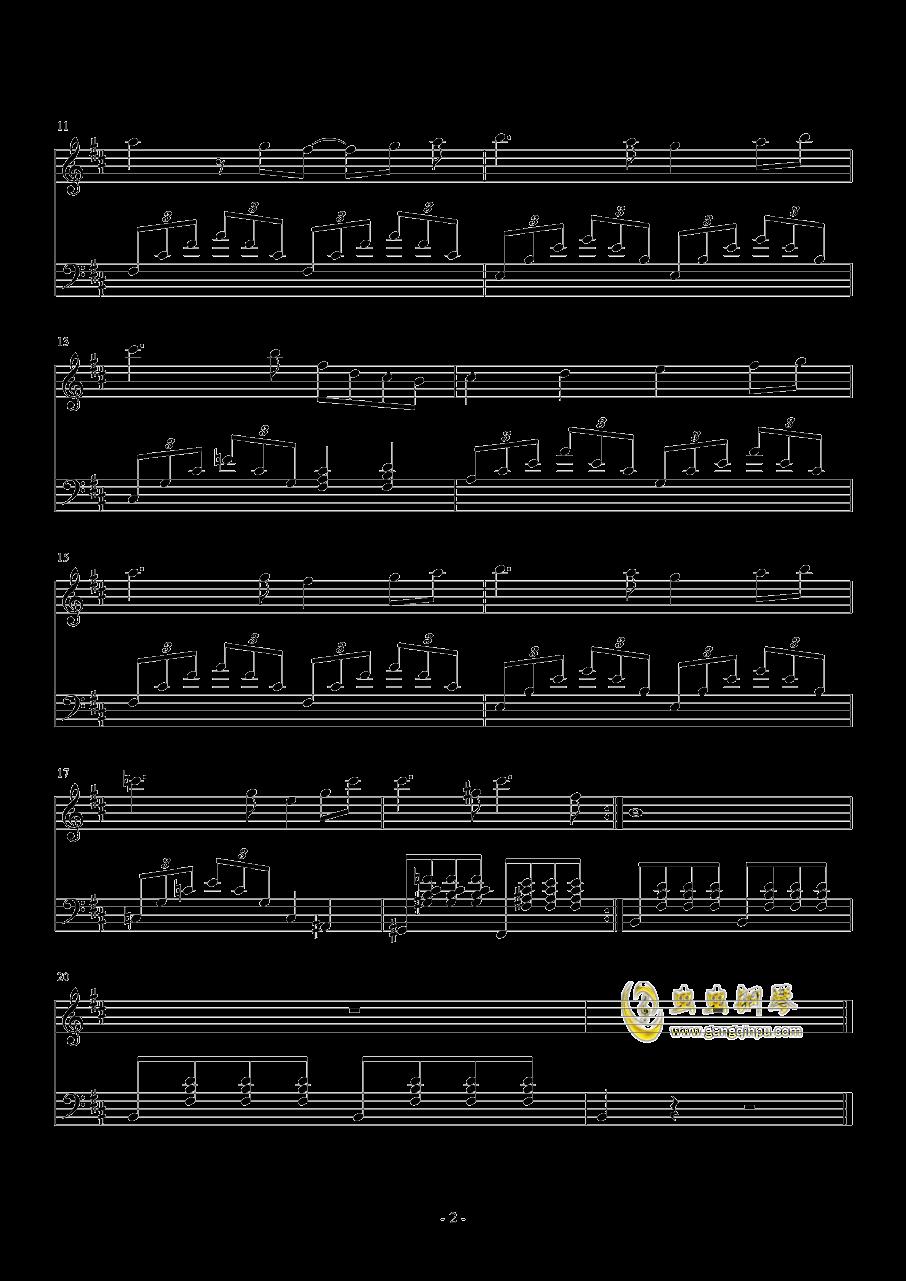 天鹅湖钢琴谱 第2页