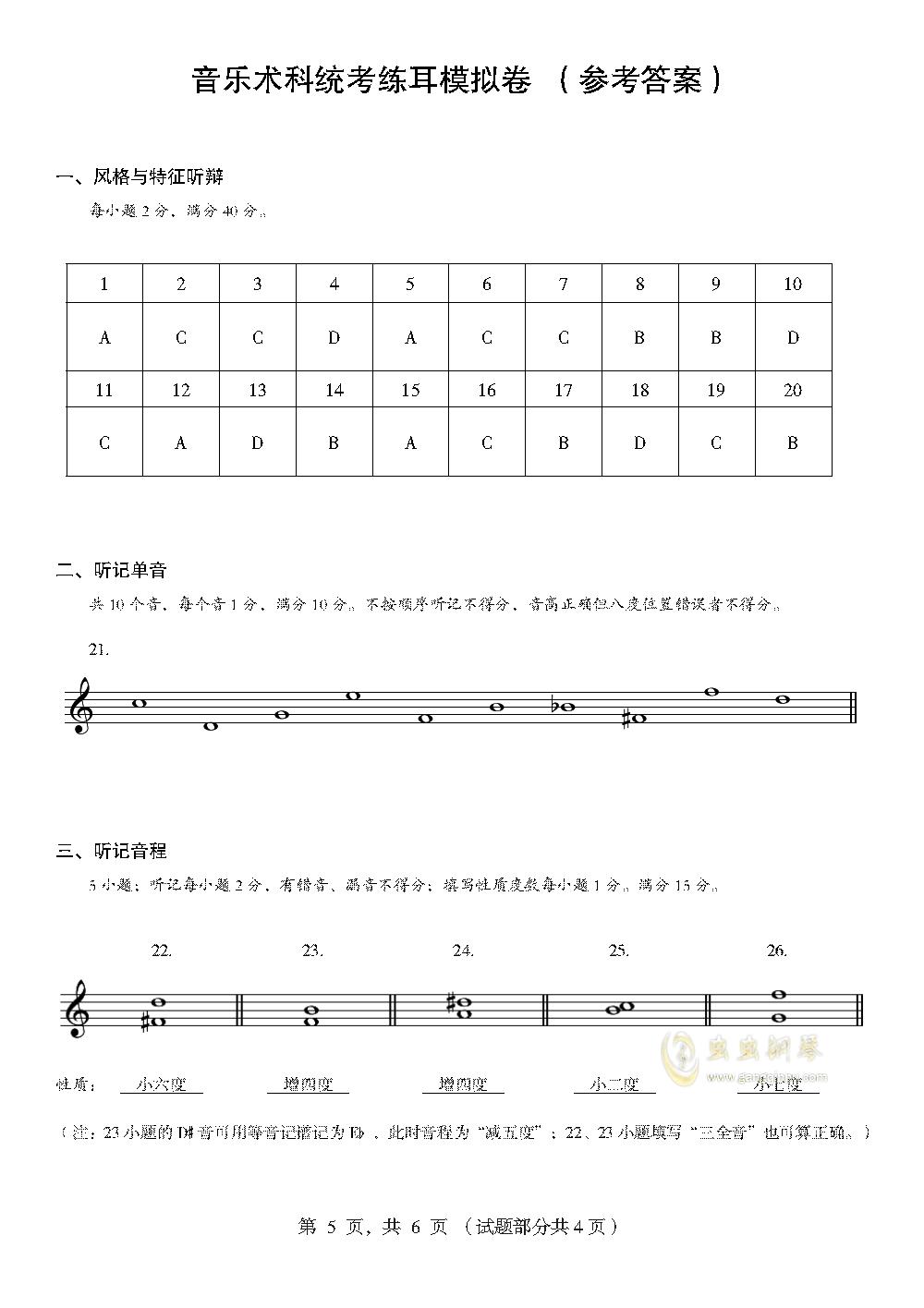 模拟今年高考。。钢琴谱 第5页