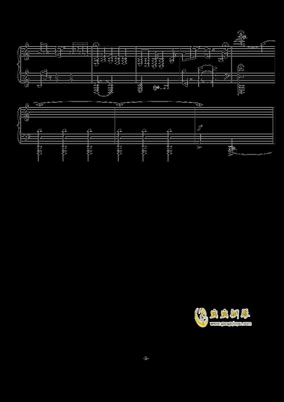 C:Raining钢琴谱 第2页