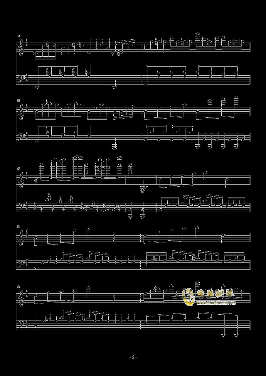 忐忑钢琴谱 第6页