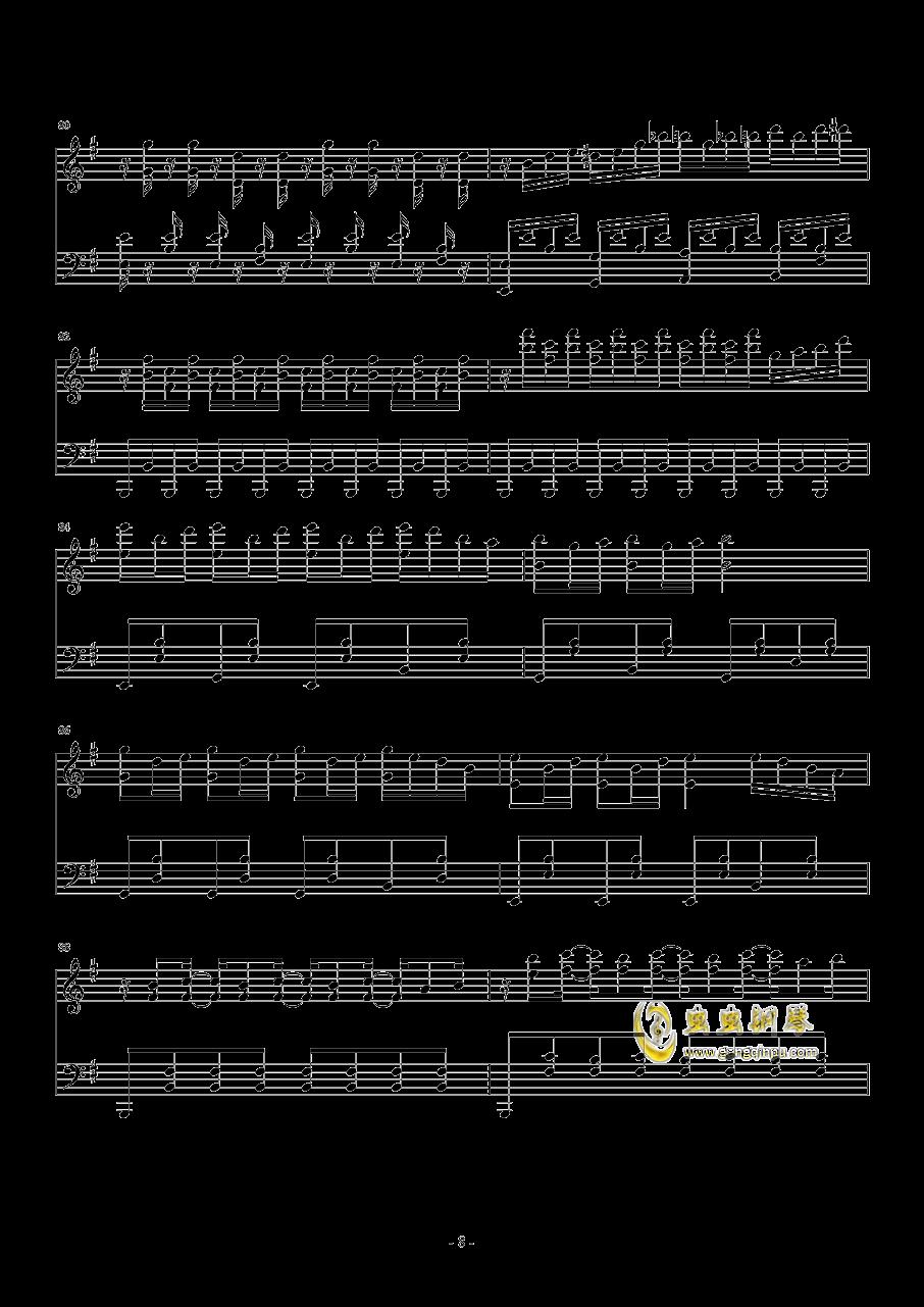 忐忑钢琴谱 第8页