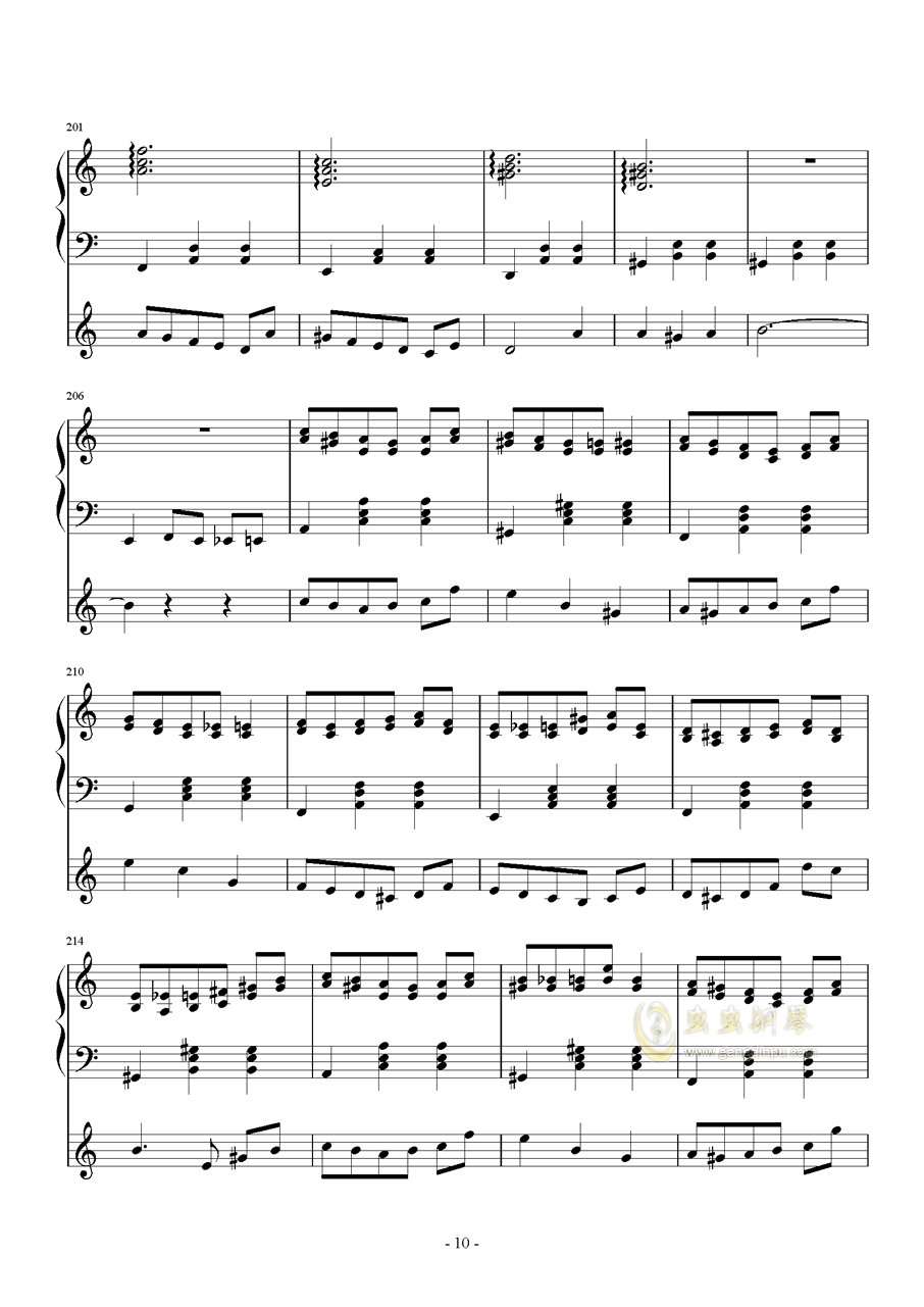 化装舞会的A小调华尔兹钢琴谱 第10页