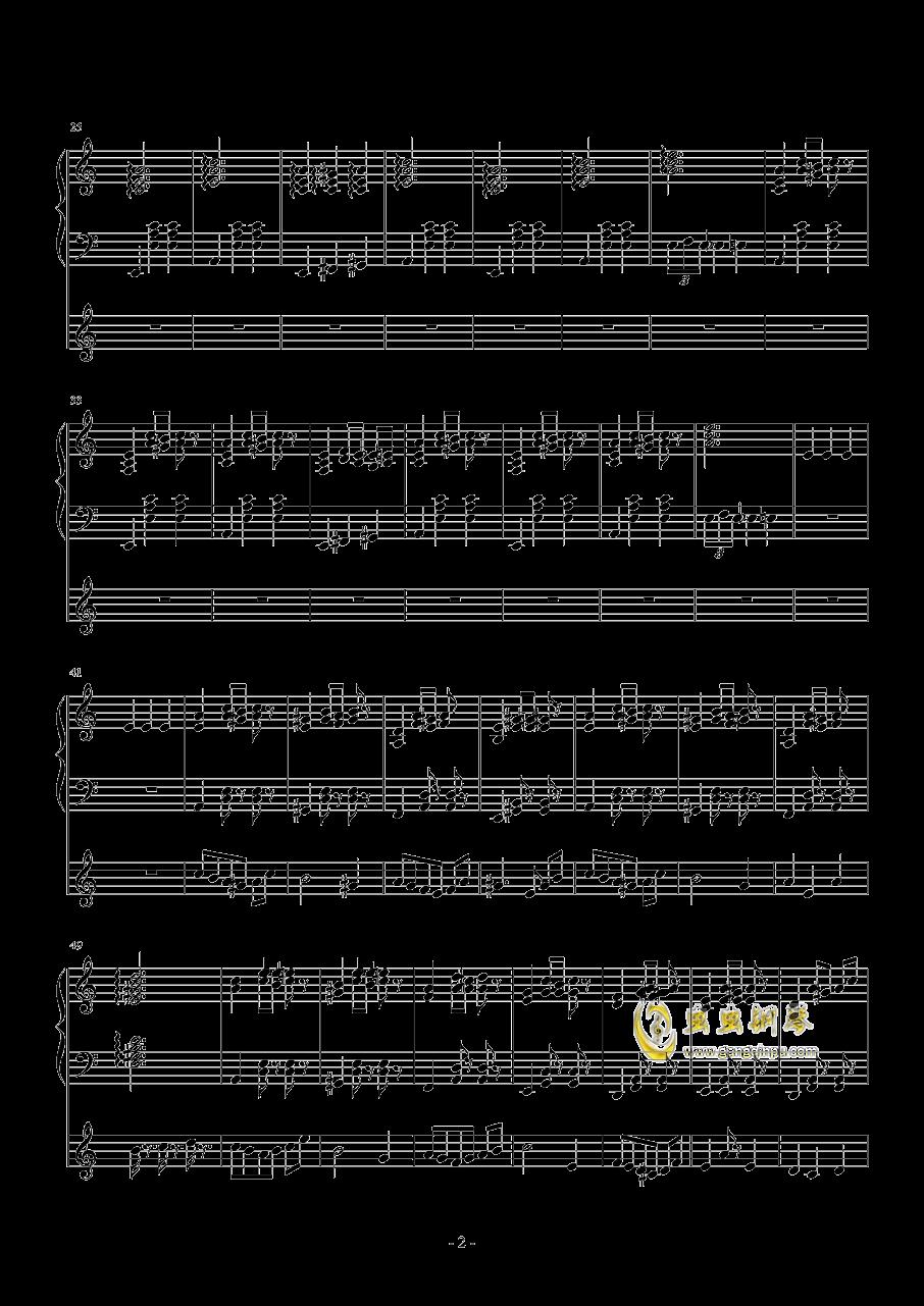 化装舞会的A小调华尔兹钢琴谱 第2页