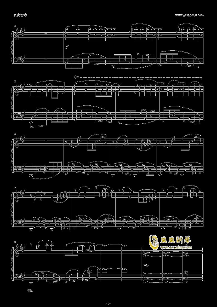 OP1―GravityWall钢琴谱 第3页