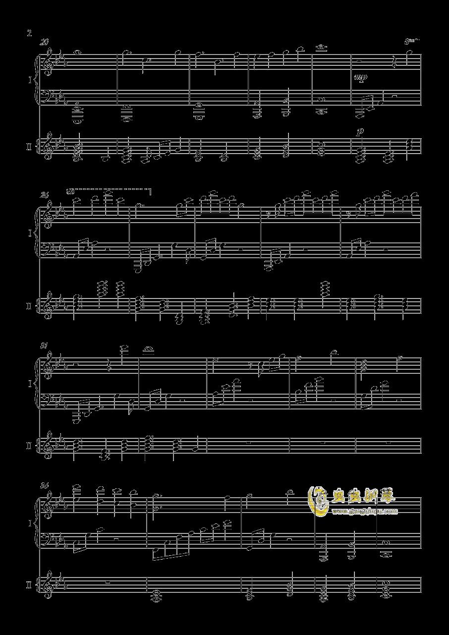 夜�@と幽世の蝶钢琴谱 第2页
