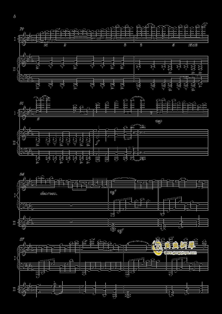 夜�@と幽世の蝶钢琴谱 第6页