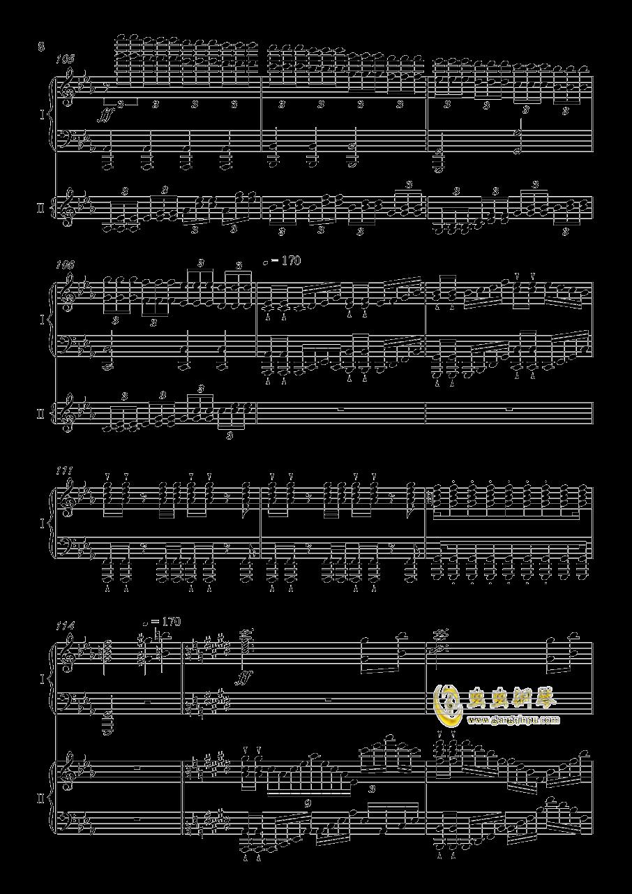 夜�@と幽世の蝶钢琴谱 第8页