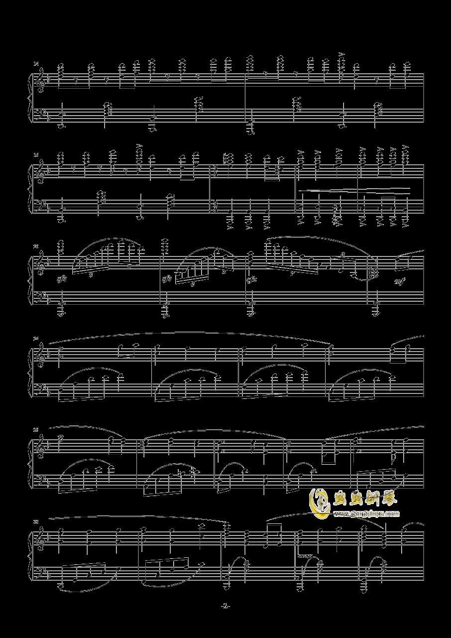 加勒比海盗主题曲钢琴谱