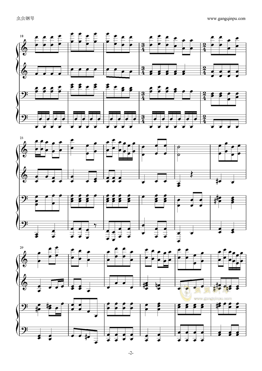 金蛇狂舞(四手联弹)金蛇狂舞(四手联弹)钢琴谱金蛇