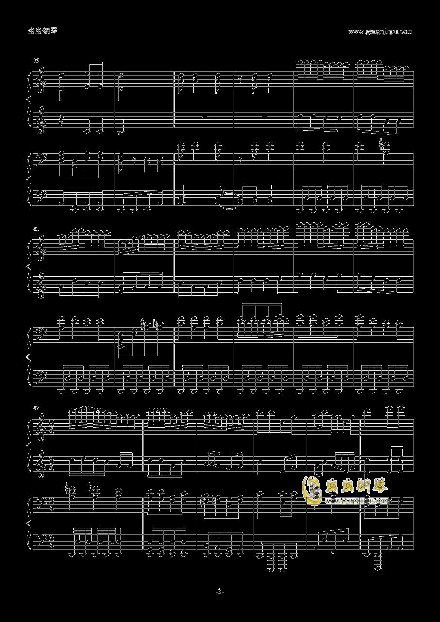四重罪孽数字简谱钢琴