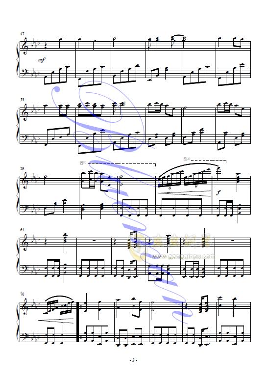 千年等一回钢琴谱 第3页