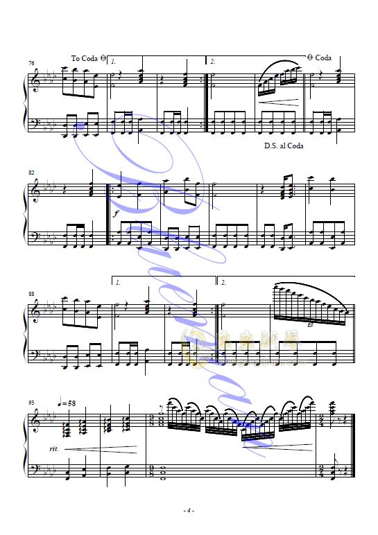 千年等一回钢琴谱 第4页