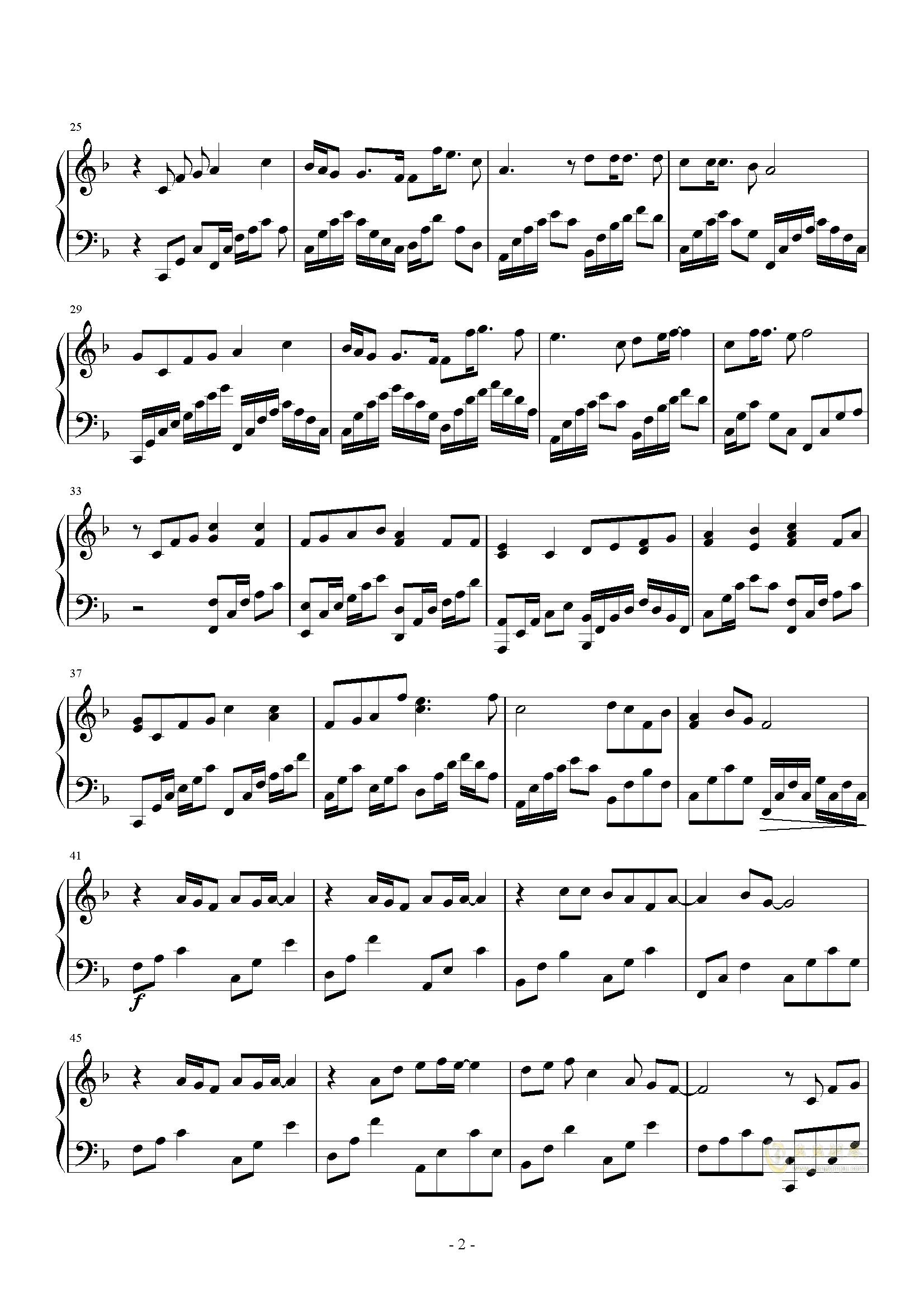 黑板情书钢琴谱 第2页